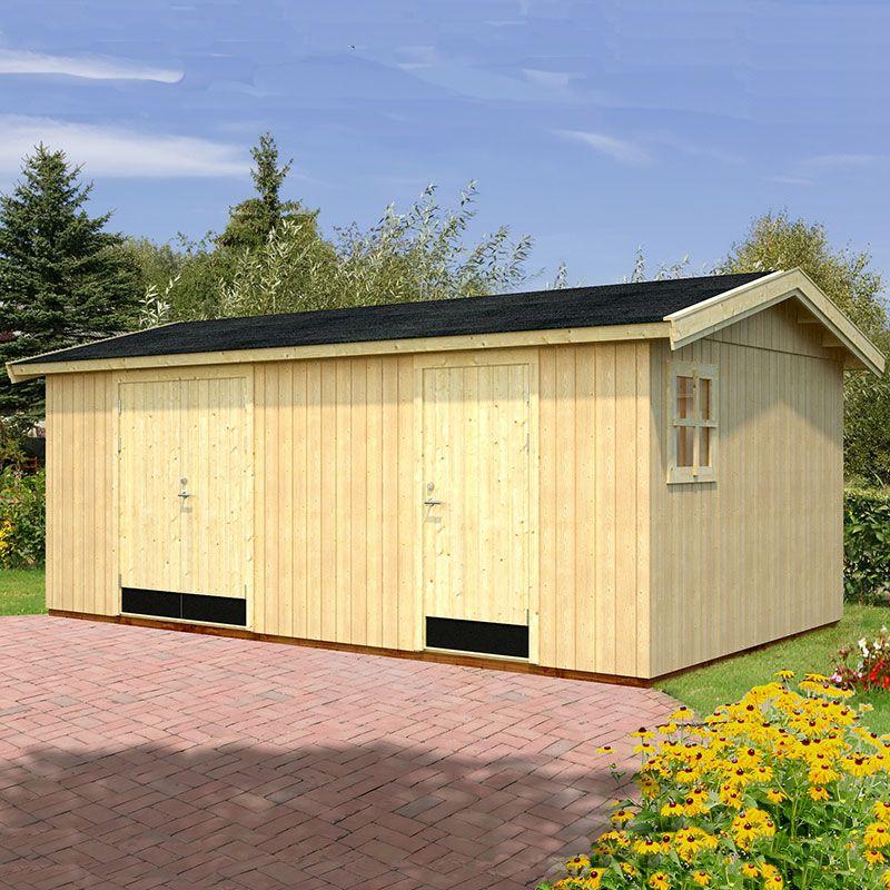 18' x 11' Palmako Olaf Premium (88mm) Multi-room Shed (5.6m x 3.3m)