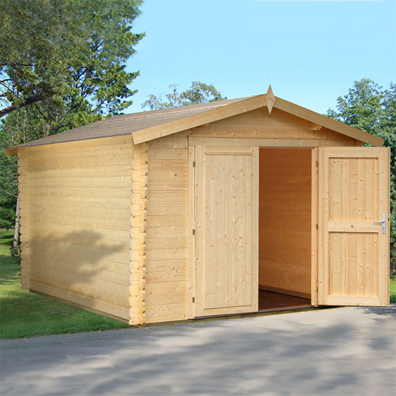 10' x 12.6' Palmako Ralf Premium (28mm) Nordic Wooden Double Door Shed (2.9m x 3.8m)