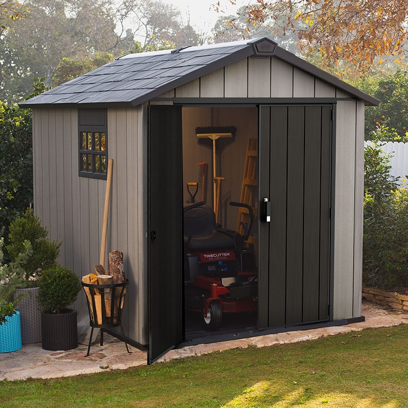 7' x 9' Keter Oakland Plastic Garden Shed (2.29 x 2.87m)