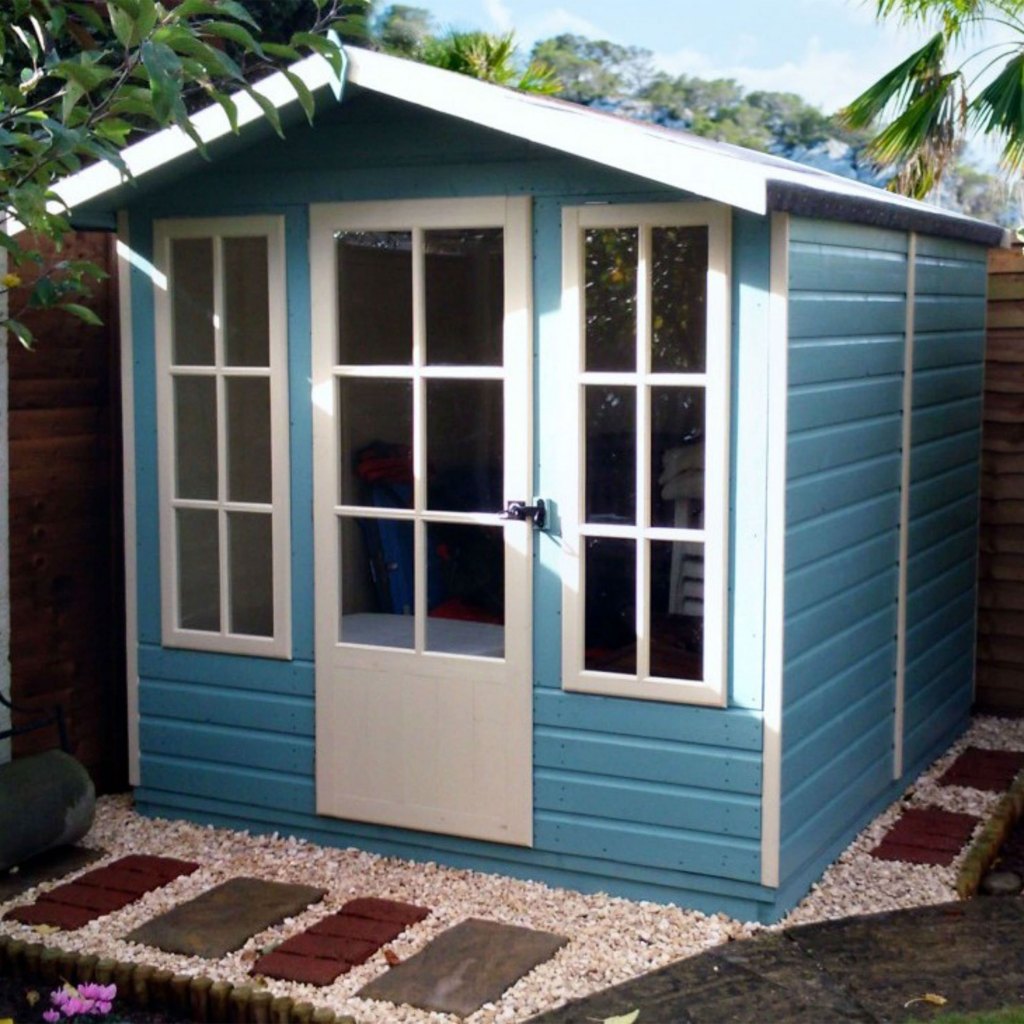 7'1x7'11 Shire Chatsworth Traditional Wooden Summer House