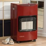 Lifestyle Seasons Warmth Red Portable Gas Cabinet Heater