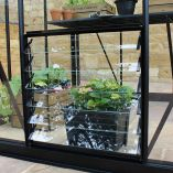 Black Louvre Vent - Toughened Glass