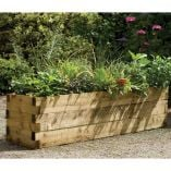 5'11 x 1'6 Grow-Plus Pennine 61  Wooden Raised Bed (1.80x0.45m)