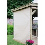 Cream Gazebo Curtains