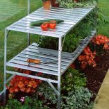 Aluminium Staging 2 Tier - Natural