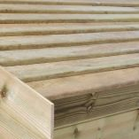 Champion Shed Slatted Roof (8x6 with Logstore)