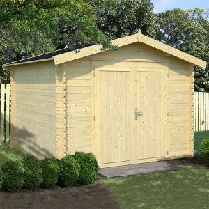 10' x 10' Palmako Ralf Premium (28mm) Nordic Wooden Double Door Shed (3.2m x 3.1m)