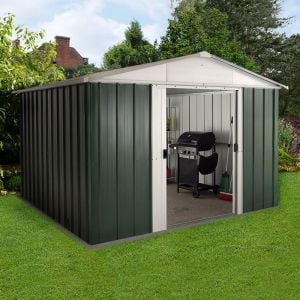 10' x 8' Yardmaster Green Metal Shed 108GEYZ