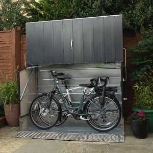 6'4 x 2'9 Trimetals Protect A Cycle Metal Bike Shed with Ramp - Anthracite (1.95m x 0.88m)