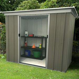 6' x 4' Yardmaster Platinum Tall Pent Metal Shed (1.9m x 1.19m)