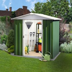 6' x 4' Yardmaster Green Metal Shed 65GEYZ