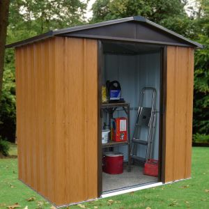 6' x 4' Yardmaster Woodview Metal Shed (1.86m x 1.25m)