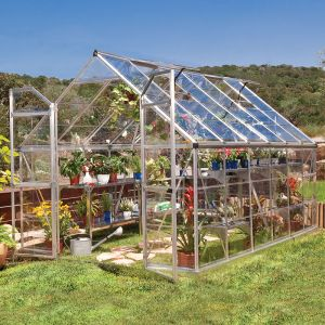 8' x 12' Palram Octave Silver Greenhouse