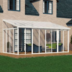 10'x18' (3x5.46m)Palram SanRemo White Lean-To Conservatory
