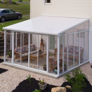 12' x 14' Palram Canopia San Remo White Lean To Conservatory