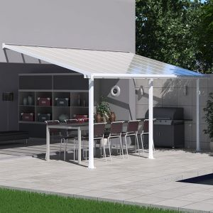 10'x20' (3x6.1m) Palram Olympia Patio Cover With White Roof