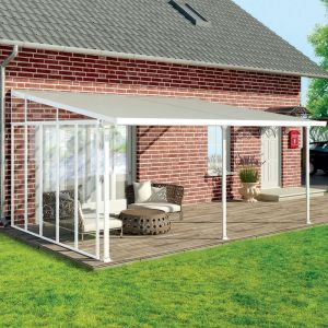 13' Palram Canopia Patio Cover Side Wall Series 4 - White