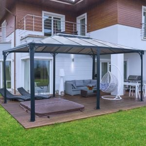16'x12' (4.8x3.6m) Palram Martinique 5000  Grey Garden Gazebo