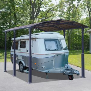 12' x 16' Palram Arcadia Alpine 5000 Grey Metal Carport
