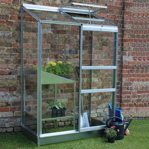 4'4 x 2'4 Halls Wall Garden 24 Small Greenhouse (1.32 x 0.69m)