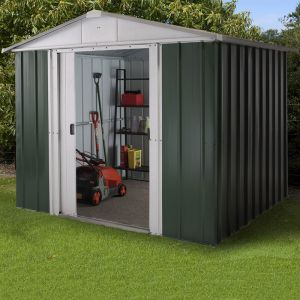 8' x 6' Yardmaster 'Limited Edition' Green Metal Shed (2.42m x 1.97m)