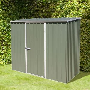 7 x 5 Absco Storemaster 2PE Green Metal Shed