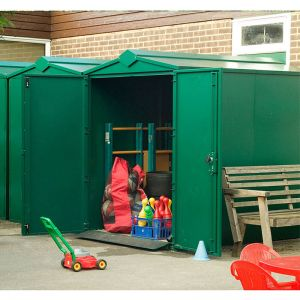 5' x 7' Asgard Centurion Police Approved Security Metal Shed (1.52m x 2.18m)