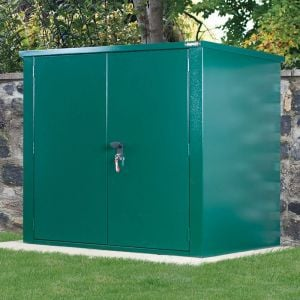 5' x 3' Asgard Securestore Metal Shed - Green (1.5m x 0.95m)