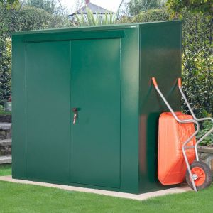 7'2 x 3' Asgard Trojan Plus Metal Shed & Bike Shed Combo - Green (2.2m x 0.95m)