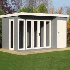 12'x8' (3.6x2.4m) Shire Aster Combination Wooden Contemporary Summerhouse