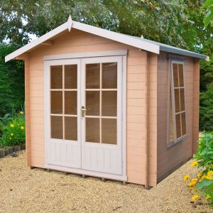 7'x7' (2.1x2.1m) Shire Barnsdale 19mm Log Cabin