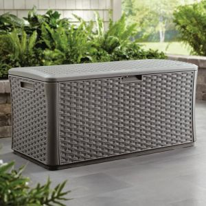Suncast 507 Litre Plastic Garden Storage Box - Stoney Grey