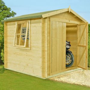 8x8 (2.4x2.4m) Shire Bradley 19mm Double Door Cabin
