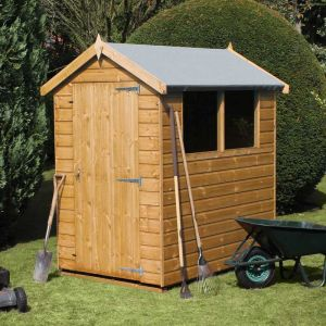 6' x 4' (1.83x1.22m) Traditional Standard Apex Wooden Garden Shed