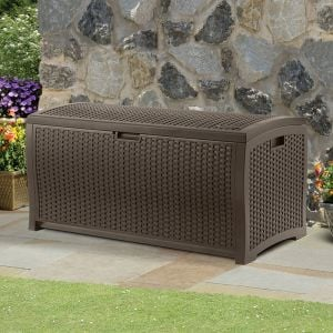 4' x 2' (1.27 x 0.65m) Suncast Resin Wicker Deck Box