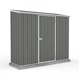 7'5 x 2'7 Absco Space Saver Pent Metal Shed - Grey