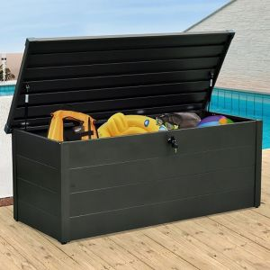 5' x 2' Falcon 165 Heavy Duty Metal Garden Storage Box 550L (1.6m x 0.7m)