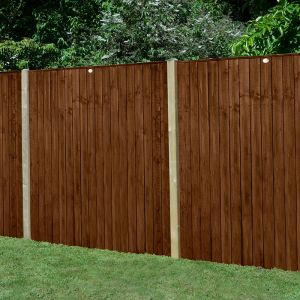 Forest 6' x 5' Pressure Treated Featheredge Fence Panel (Dark Brown) (1.83m x 1.54m)