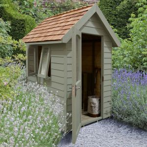 6' x 4' Forest Retreat Green Luxury Shed (1.81m x 1.22m)