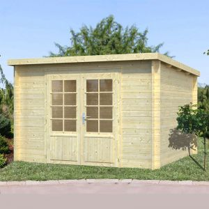 10'x10' (3.2x3.2m) Palmako Marseille 2 28mm Log Cabin