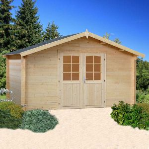 13'x13' (3.9x3.9m) Palmako Lotta 34mm Log Cabin