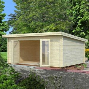 18'x13' (5.4x3.9m) Palmako Lea 44mm Log Cabin