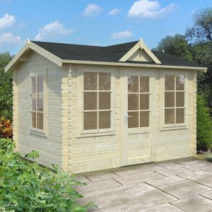 10'x8' (3.2x2.4m) Palmako Nora 28mm Log Cabin
