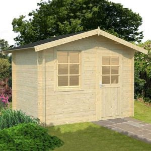 10'x7' (3x2.0m) Palmako Klara 28mm Log Cabin