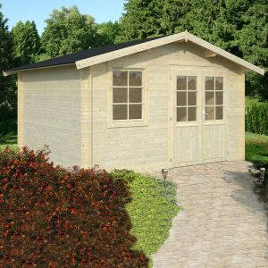 13'x11' (3.9x3.3m) Palmako Klara 28mm Log Cabin