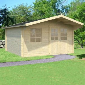 14'x14' (4.2x4.2m) Palmako Britta 40mm Log Cabin
