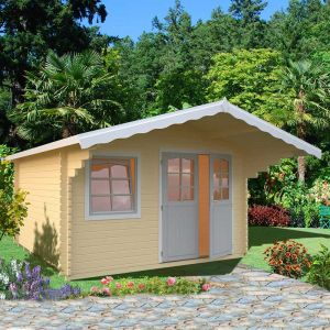 13x13 Palmako Sally 44mm Log Cabin
