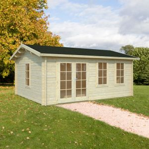 17'x13' (5.3 x 4.1m) Palmako Isabel 44mm Log Cabin