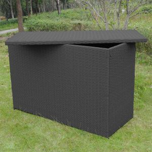 5'6 x 2' Glendale Rattan Cushion Storage Box - Grey (1.6m x 0.65m)