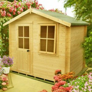 7' x 7' (2.1x2.1m) Avesbury 19mm Log Cabin